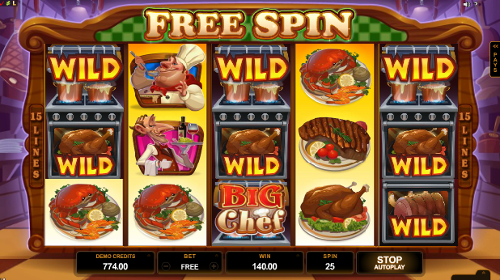 Big Chef Slots Bonus Game