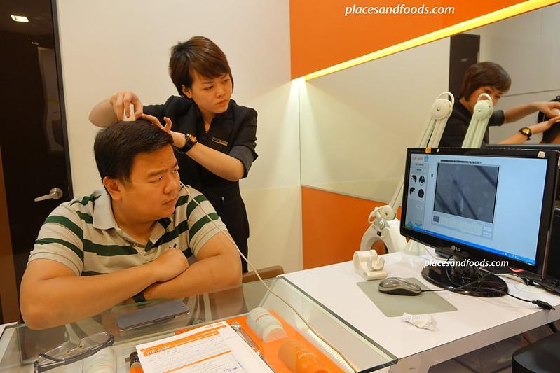 yun nam hair care hair and scalp scanning