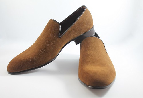 MENS BROWN SUEDE LEATHER LOAFER SHOES