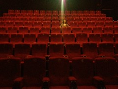 In an empty theater