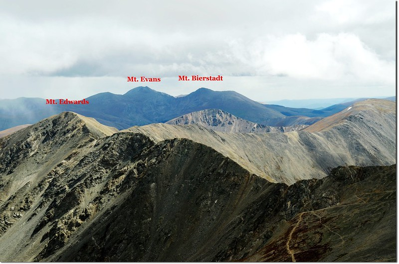 View to East from Torreys peak 1