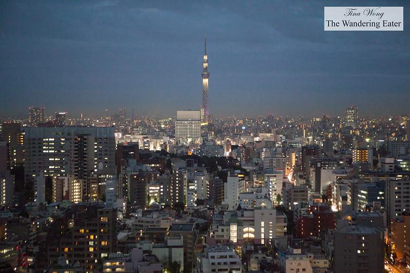 Night views of Tokyo from Bunkyo Civic Center