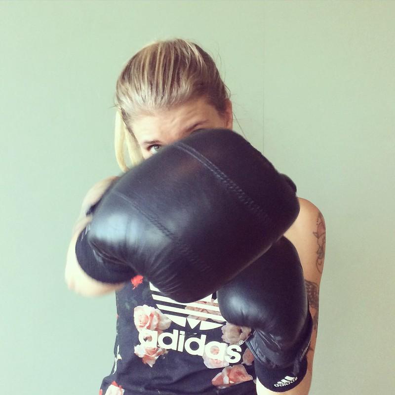 Boxning på jobbet.