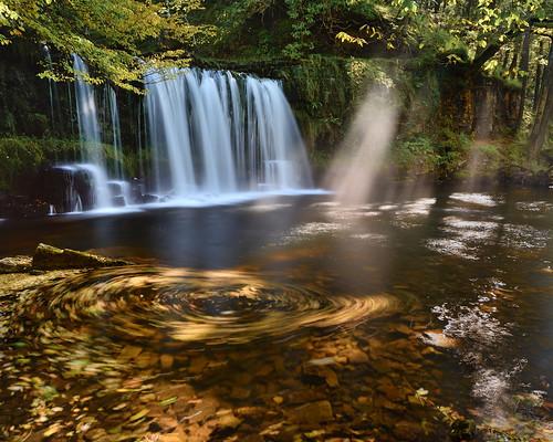 autumn wales landscape early waterfall nikon stu lee d750 brecon beacons polarizer sgwd 1635 meech polariser ddwli
