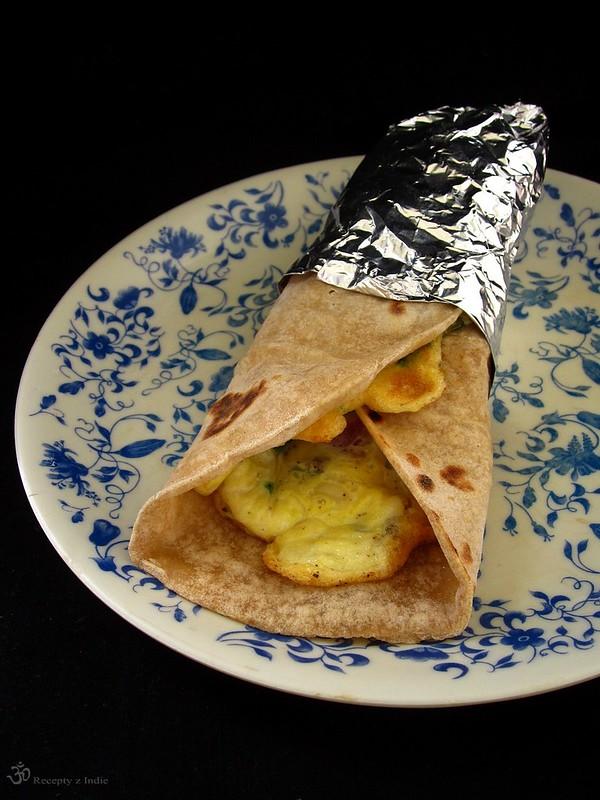 Chapati rolka s vajcom