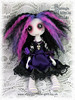 Purple vampire art doll - Nadia Nightshade
