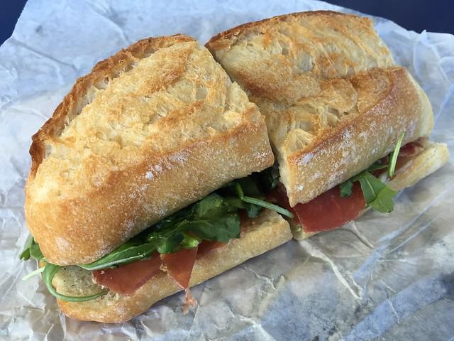 Lonza with fig spread sandwich - Boccalone