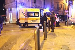 Rutigliano-L'ambulanza dopo la presentazione di un libro sulla prima guerra mondiale