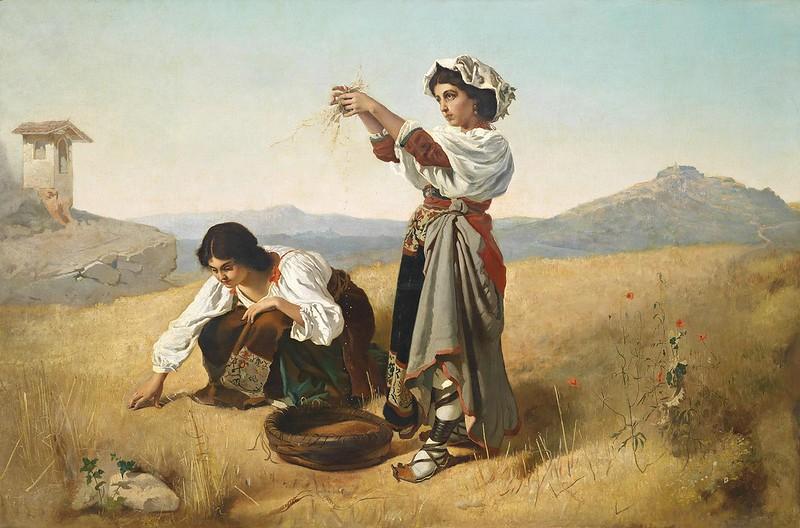 Anton Romako - Nach der Ernte (1889)