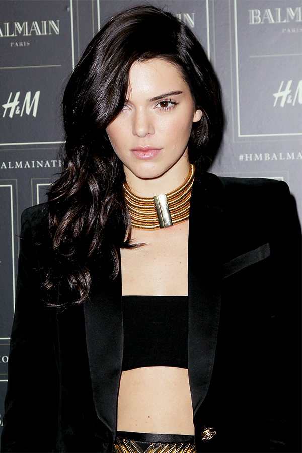 Kendall Jenner At The BALMAIN X H&M Collection Launch in New York