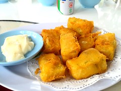 Deep fry tofu with mayonnaise from Century Village