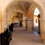 Image of Castillo San Cristóbal near San Juan. old castle puerto town san downtown arch juan fort outdoor district arc landmark historic rico pr caribbean cristobal castillo sju benteng konomark