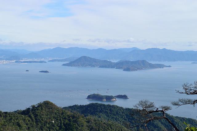 獅子岩展望台からの眺め(似島 他)
