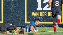 In the finals, Argentina scores against Canada at Halloween Rugby 7s Elite International Invitational​ in St. Petersburg, Florida