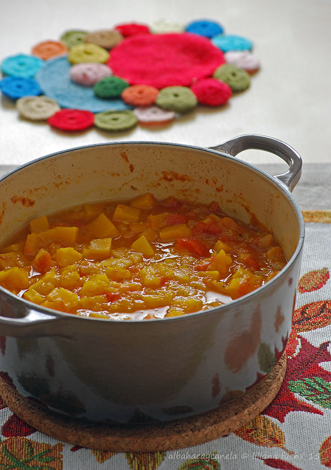 Pumpkin squash curry