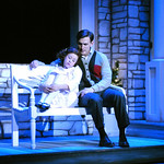 Irving Berlin's White Christmas - Arvada Center Photo P. Switzer Photography 2015 - Pictured: Darrow Klein (Susan Waverly) and Ben Michael (Bob Wallace)