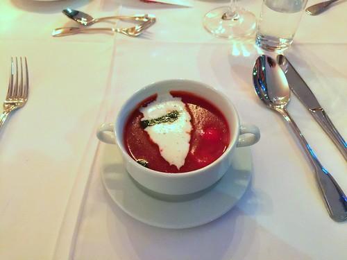 Tomato cream soup / Tomatencremesuppe