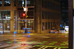 Second Avenue at night.