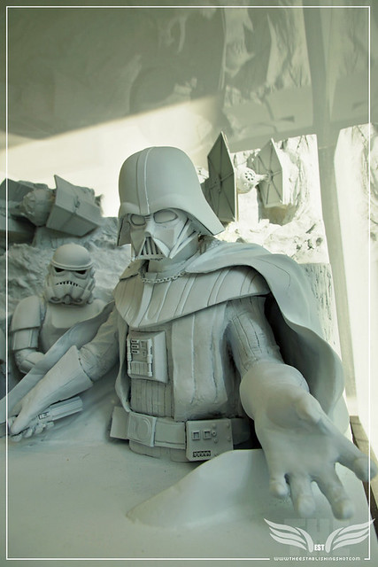 The Establishing Shot: STAR WARS VISIONS EXHIBITION - SAPPORO SNOW FESTIVAL STAR WARS ICE SCULPTURE PROTOTYPE - SKY GALLERY ROPPONGI HILLS MORI ARTS CENTER, TOKYO