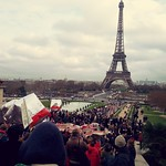 Sat, 12/12/2015 - 2:10pm - Heading towards the Eiffel Tower on climate change March Paris France