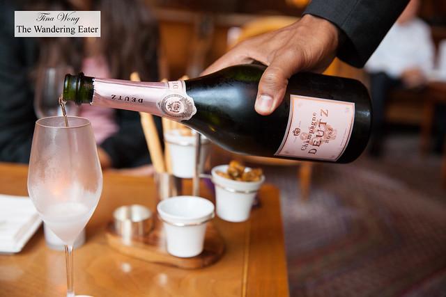 Having rosé Champagne by Champagne Deutz