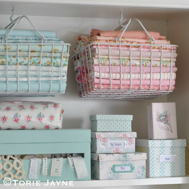 Pretty craft storage