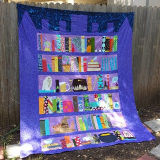 My #projectofdoom quilt top for my sister is complete and ready for quilting by sarahssewingstudio.com! Designed by me for the 2015 Harry Potter Bookcase Quilt Along on fandominstitches.com. #harrypotter #freepattern