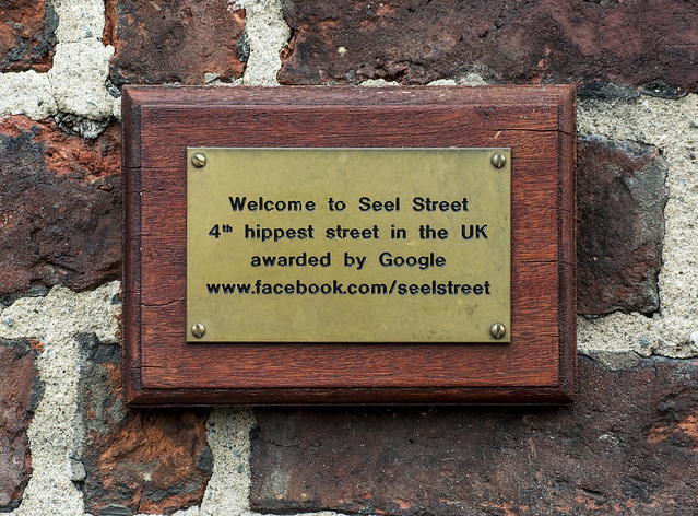 Photo of Seel Street bronze plaque