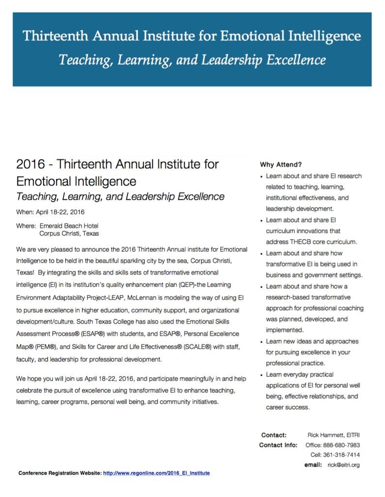2016 Institute for EI