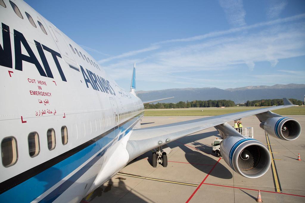 Kuwait Airways B747-400 in Geneva