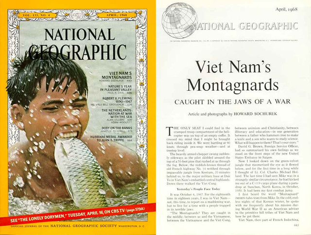National Geographic April 1968 (1) - VIET NAM'S  MONTAGNARDS by Howard Sochurek