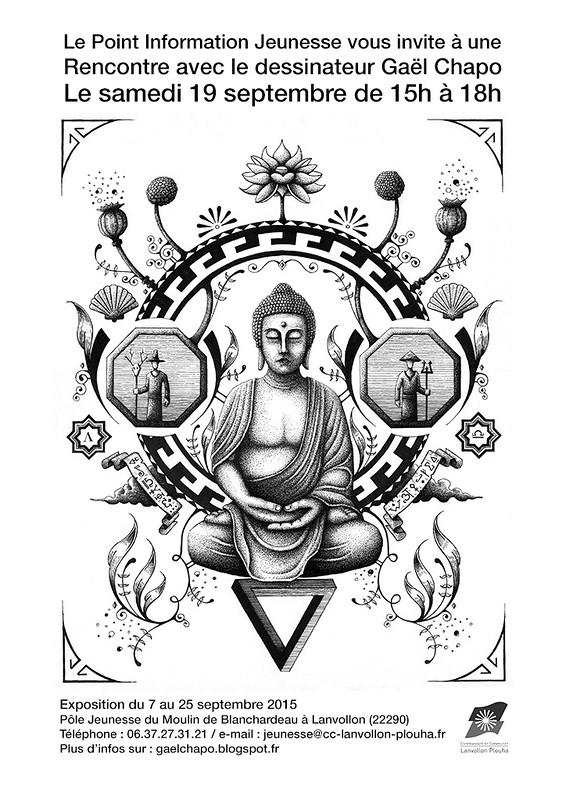 Rencontre au Moulin de Blanchardeau - Affiche Bouddha