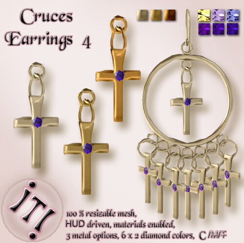 !IT! - Cruces Earrings 4 Image