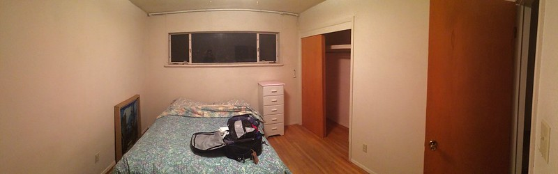 My Airbnb room. Very very basic.