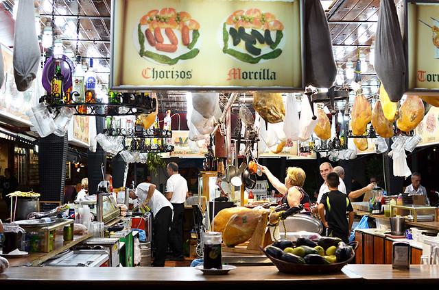 Food stall, fiesta, Puerto de la Cruz, Tenerife