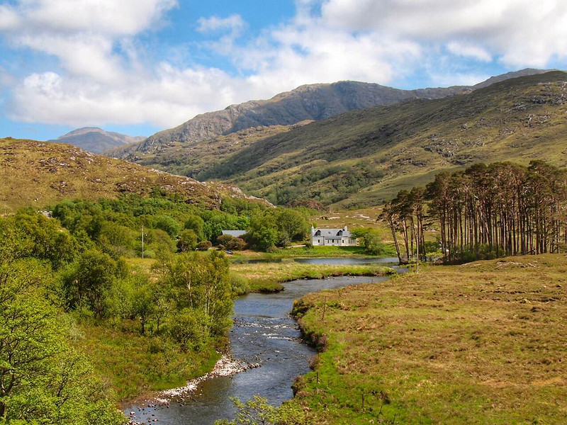 View from the Jacobite Steam Train in Scotland