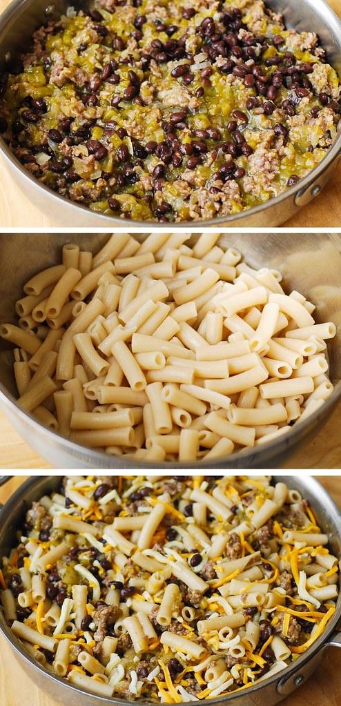 Mexican pasta recipe, penne pasta recipe, gluten free pasta, sausage pasta