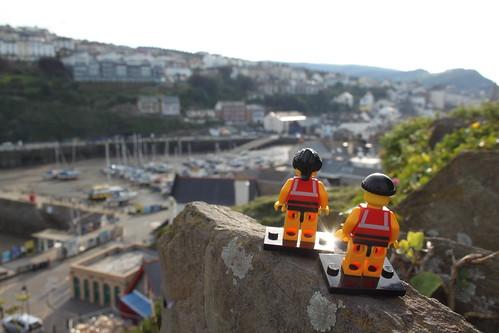 The little guys admire the view across the town