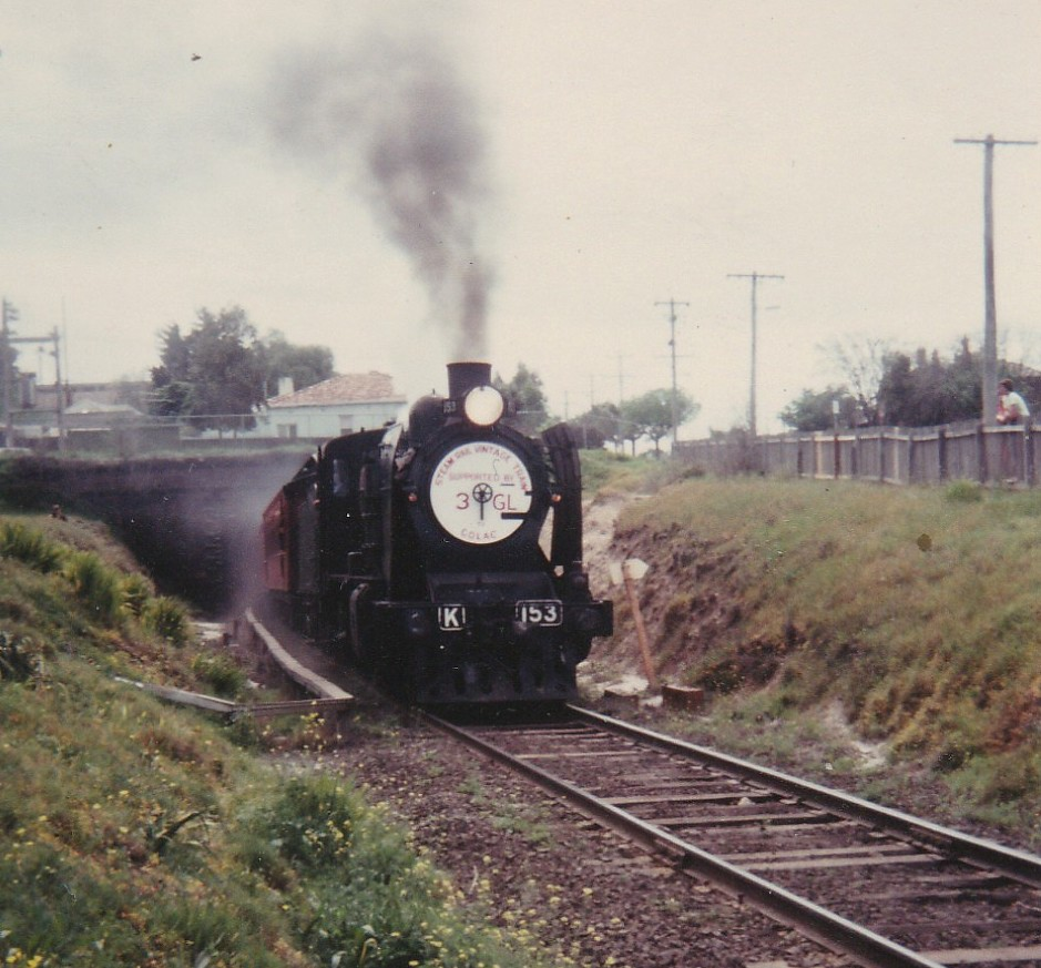 Steam Special Exiting Geelong Tunnel,  Sunday 5th of October, 1980, Geelong, Victoria, Australia by MurrayJoe