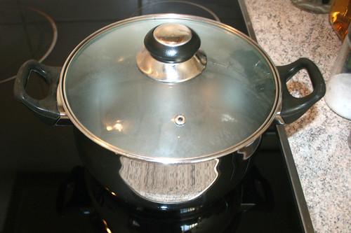 21 - Topf mit Wasser für Nudeln aufsetzen / Bring pot with water to a boil