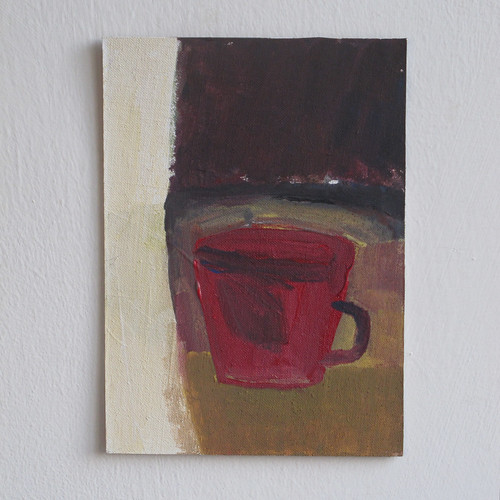 red cup, evening