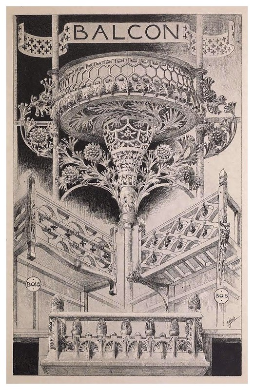 001-Balcon-Esquisses Décoratives- 1905- Rene Binet