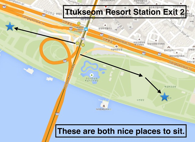 Ttukseom Resort Directions