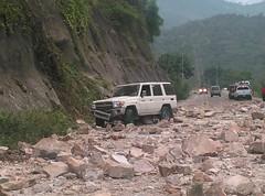 a descent of loose rocks