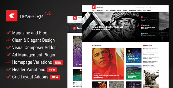 Themeforest NewEdge v1.0 - Responsive WordPress Magazine Theme