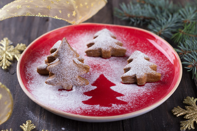 Christmas cookies in the shape of a Christmas tree