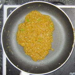 Mutton cutlet - Mixture thickens and get separated from sides of pan