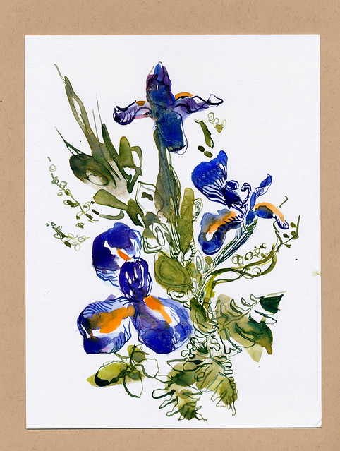 Sketchbook #93: Irises