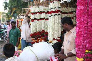 flower-market coimbatore Tamil Nadu South India