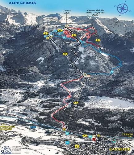 Alpe Cermis - mapa sjezdovek
